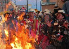 Este es el festival de Willkakuti, un festival para el solsticio de invierno. Hay muchos sacrificios para este evento.