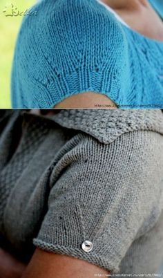 Как правильно связать короткий рукав при вязке реглана. Ольга Молчанова
