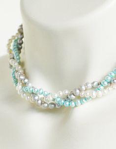 Shelly  Perfect Bridesmaid NecklaceTurquoise by whitetulipboutique, $34.00   omg i love!!