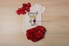 Fairest ONE of all infant girl bodysuit, baby girl bodysuit, birthday outfit, birthday girl, 1st birthday outfit, snow white, disney, one