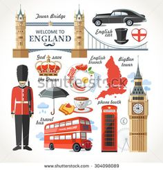 Travel Concept Country Landmark 02 F (Welcome To England) . Buy any Canvas Art Print,Framed Art,Poster and Photo Print at Great Prices, Retail and Wholesale Satisfaction Manufacturer and Supplier. London Phone Booth, Map Of Britain, Culture Day, Doodle Paint, British Things, Flat Design Icons, Kids Around The World, Felt Books, London Landmarks