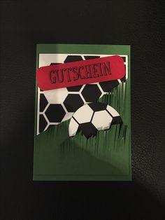 Gutschein, Fußball, Stampin Up