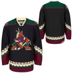 37de3085aa6 Men's Arizona Coyotes CCM Black Classic Throwback Jersey. Nhl JerseysMen's  HockeyChristmas ...