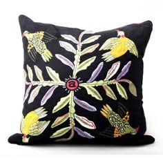 Ardmore Ceramics Scatter Cushions: Bird Crossing Night Cushion