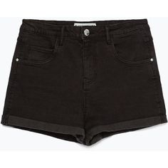 Zara High Waist Shorts (730 UYU) ❤ liked on Polyvore featuring shorts, bottoms, pants, short, black, high-waisted shorts, high waisted shorts, high-rise shorts, highwaist shorts and zara shorts
