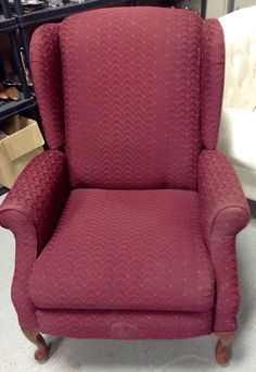 Greystone Fine Furniture   Burgundy Reclining Wingback Chair $85
