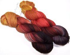 Happy Fuzzy Yarn 'Ochre' in Corriedale Sock