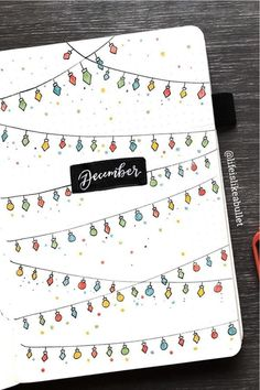 30 best DECEMBER monthly cover ideas to add some festive vibes to your bullet journal! 30 best DECEMBER monthly cover ideas to add some festive vibes to your bullet journal! Bullet Journal Décoration, December Bullet Journal, Bullet Journal Cover Page, Bullet Journal Aesthetic, Bullet Journal Spread, Bullet Journal Ideas Pages, Bullet Journal Layout, Journal Covers, Bullet Journal Inspiration