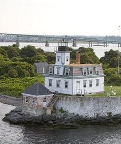 """Rose Island Lighthouse           Newport, Rhode Island    Step back into another century as you become the """"keeper"""" of this working lighthouse for a night or even a week. Built a mile offshore in Narragansett Bay, the lighthouse, which dates to 1869, runs on wind-powered electricity and is accessible only by boat: Be prepared to bunk an extra night (for free) if the weather doesn't cooperate."""