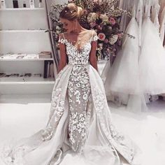 Cheap wedding gowns, Buy Quality lace mermaid wedding directly from China lace mermaid wedding dress Suppliers: 2017 Fashion Lace Mermaid Wedding Dresses Sexy Backless Appliques Short Sleeve Robe De Mariage 2016 Vintafe A-Line Wedding Gowns Dream Wedding Dresses, Bridal Dresses, Prom Dresses, Dresses 2016, Sexy Dresses, Elegant Dresses, Weeding Dress, Weird Wedding Dress, Summer Dresses