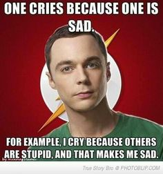 haha oh Sheldon