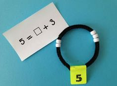 "Math Coach's Corner: Using Number Bracelets to Develop Number Sense.  This is like a mini rekenrek more than it is a bracelet, so don't make the mistake that this is just a ""cutsie"" little idea; this is real math!"