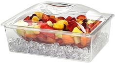 Tropix 3-pc. Acrylic Chiller Container for Appetizers and Dips