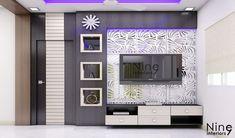 Modern Tv Unit Designs, Modern Tv Wall Units, Living Room Tv Unit Designs, Lcd Wall Design, Front Wall Design, Ceiling Design, Tv Unit Decor, Tv Wall Decor, Tv Unit Furniture Design