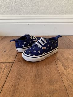 c7879620809a07 Vans Toddlers Authentic Dodgers x MLB Size 6.5c Blue  fashion  clothing   shoes