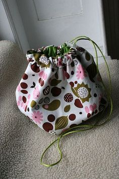 Drawstring pouch for knitting projects. I have a few small project bags but need a bigger one.