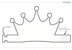 Resultado de imagen de plantilla patrón para hacer corona de cumpleaños