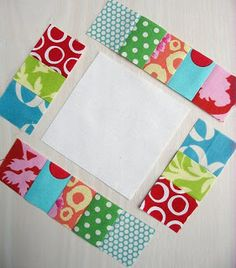 Quilt / Pieced Scrap Border Quilt / Red Pepper Quilts: Tutorial