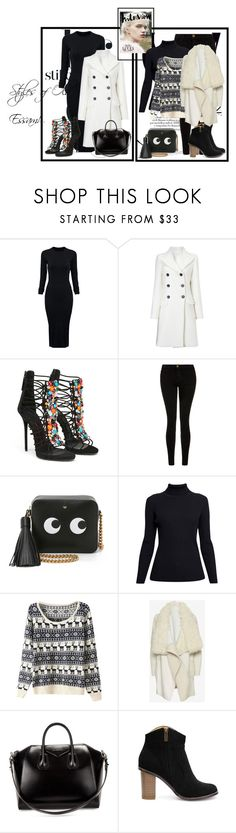 """""""Let's Play it Cool! ;#178"""" by olaaz-essam on Polyvore featuring WithChic, Étoile Isabel Marant, Current/Elliott, Anya Hindmarch, Rumour London, Yves Salomon, Givenchy, women's clothing, women's fashion and women"""