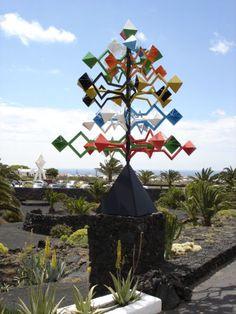 Wind sculpture by Cesar Manrique, Cesar Manrique Foundation (prev CM home), Lanzarote.