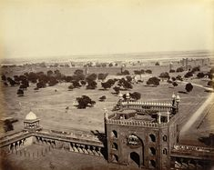 Red Fort (Lal Qila), Delhi; as viewed from Jama Masjid.  Photographer John Edward Sache 1875