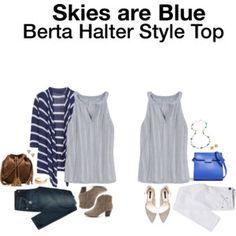 Skies are Blue Berta Halter Style Top