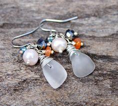 Sea Glass Earrings  Hawaii Seaglass Jewelry by MermaidTearsDesigns, $28.00