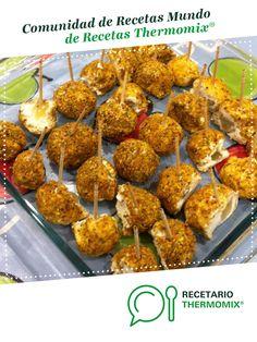 Bolitas de queso de cabra con uvas y pistacho por Loredav12. La receta de Thermomix<sup>®</sup> se encuentra en la categoría Aperitivos y tapas en www.recetario.es, de Thermomix<sup>®</sup> Tapas, Pistachio, Cauliflower, Vegetables, Ethnic Recipes, Thumbnail Image, Food, Goat Cheese, Sweet And Saltines