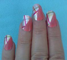 Sally Hansen Casting Call nail polish with Mad for Plaid nail polish strips