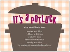 Really cool potluck invitation wordings you can choose from potluck party invitations housewarming party idea affiliate stopboris Choice Image
