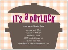 Potluck Invitation Templates Free | Potluck Lunch Invitation free ...