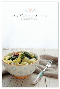 orecchiette-cime-rapa Italian Pasta Recipes Authentic, Serving Bowls, Rap, Cooking, Tableware, Food, Gastronomia, Kitchen, Dinnerware