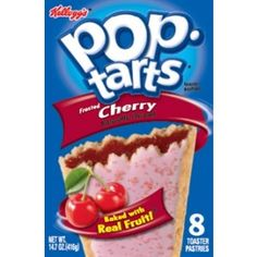 12 boxes of delicious Frosted Cherry flavoured Pop-Tarts. Each box contains 8 slices that weigh approximately 416 grams in total. Available to buy online in Australia.