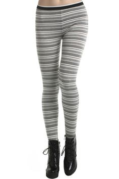 White Stripe Leggings. Description  White Leggings, crafted from soft-touch fabric, featuring elasticity waist, stripe design, all in a soft-touch stretch fit. Fabric Cotton. Washing  Suggest hand wash, do not soak long time. #Romwe