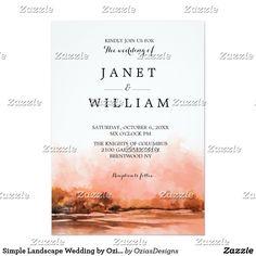 Simple Landscape Wedding by Ozias