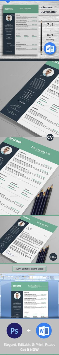 Clean Cv   Resume Cv resume template, Cv ideas and Cv design - resume template psd