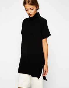 ASOS Longline High Neck Tunic Top