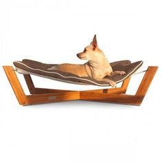 Bambu Chestnut Brown Cross Hammock Dog Bed – Bark Label