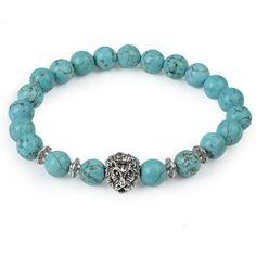 Owl Buddha Natural Stone Bead Bracelet