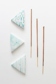 polymer clay ... acrylic paint watered down .. easy peasy! ...diy incense holders  | almost makes perfect