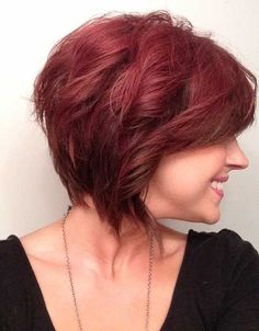 Trendy Short Wavy Hairstyles: Red Haircut for Women