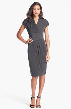 Ivy & Blu Ruched Faux Wrap Dress (Regular & Petite) | Nordstrom