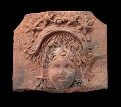 Terracotta Plaque with head of Eros, Greek (Tarentum, Calabria, Italy), South Italian; Museum of Fine Arts, Boston