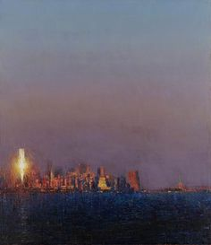 'Manhattan from Port Liberte, II' - Andrew Gifford - John Martin Gallery