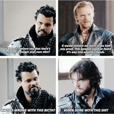 Athos= Done with everyone's shit for infinity.