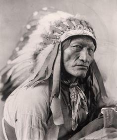 "North American Indian Portrait, 1900, High Bear, Headdress, 20""x16"" Photo"