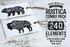 Rustica Combo Pack + Mini Pack by Callie Hegstrom on @creativemarket