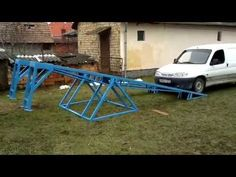 The DIY Car Lift for the Practical Mechanic's Garage . Garage Lift, Mechanic Garage, Mechanic Tools, Garage Tools, Car Tools, Garage Shop, Garage Plans, Garage Workshop, Garage Storage