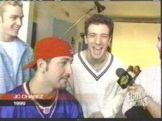 Immagine di nsync, interview, JC chasez, Joey fatone, funny, boys, fashion