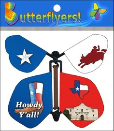 Say Howdy to friends and family with the new Texas Butterflyer. Now available online!
